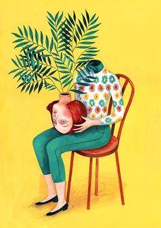 La personalidad fragmentada en las ilustraciones de Helena Pérez García