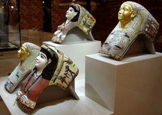 Neues Museum Mummy masks