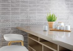 Subway tile designs can be bold or subtle and fit any space. Check out a variety of subway tile patterns and sizes at Avalon Flooring. Ceramic Wall Tiles, Porcelain Tile, Subway Tile Patterns, Tile Design, Kitchen Backsplash, Kitchen Design, Kitchen Decor, Taupe, Ceramics