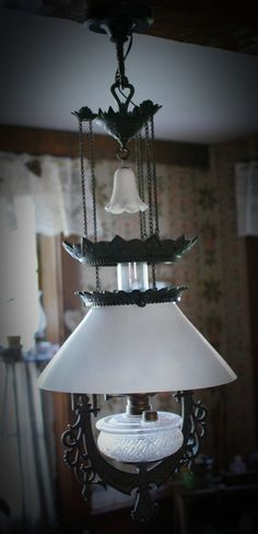 My Primitive Heart-Decorating Ideas & more: Antique Farmhouse  Lighting-