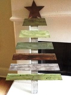wooden christmas tree - Google Search