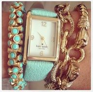 Turquoise & Gold Arm Party... Stella & Dot Shop www.stelladot.com/doniellefreeman LOVE this combo