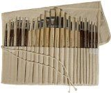 4 art advantage oil and acrylic brush set 24 piece