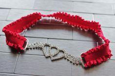 Entwined Hearts Wedding Garter Valentines by WeddingGarterShop