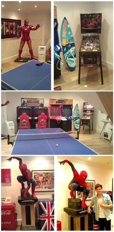 Lou's game room. That's really cool....