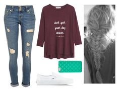 """""""Really Messy Girl"""" by marsophie ❤ liked on Polyvore featuring MANGO, River Island, Vans and FOSSIL"""