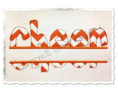 Split Cheer Raggy Edge Applique Machine Embroidery Design - 4 Sizes
