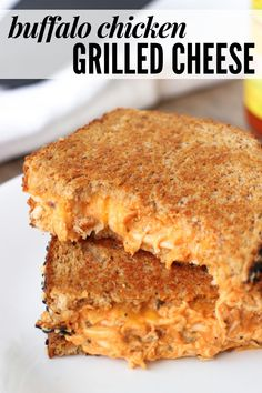 This buffalo chicken grilled cheese is FULL of flavor and a great way to use leftover shredded chicken or rotisserie chicken. Warm, creamy, and a little zippy, this pulled chicken sandwich is easy comfort food at its finest. Buffalo Chicken Grilled Cheese, Shredded Buffalo Chicken, Buffalo Chicken Sandwiches, Pulled Chicken, Leftover Rotisserie Chicken, Leftover Shredded Chicken Recipe, Recipes For Rotisserie Chicken, Grilled Cheese Recipes, Best Grilled Cheese