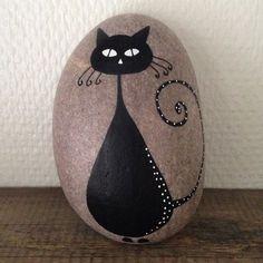 Black cat on stone....