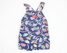Vintage Toddler Romper Navy Blue Nautical by ShopTwitchVintage, $14.00 #vintage #etsy #toddler #boy