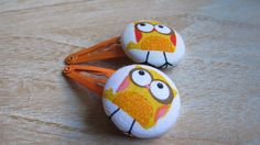 Hey, I found this really awesome Etsy listing at https://www.etsy.com/listing/203933222/farbic-covered-button-snap-clip-owl-set