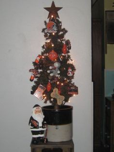 My Browns tree, I keep it out all football season and remove ornaments and just decorate to season Go Browns, Football Season, Christmas Tree, Seasons, Ornaments, Holiday Decor, Home Decor, Teal Christmas Tree, Decoration Home