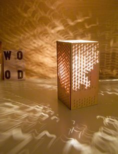 Laser cut Lamp -  Japanese Clouds. $95, via Etsy.