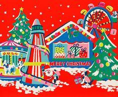 print & pattern Christmas Card Images, Vintage Christmas Images, Christmas Graphics, Xmas Cards, Christmas Mood, Retro Christmas, Kfc Christmas, Cath Kidston Wallpaper, Cath Kidston Christmas
