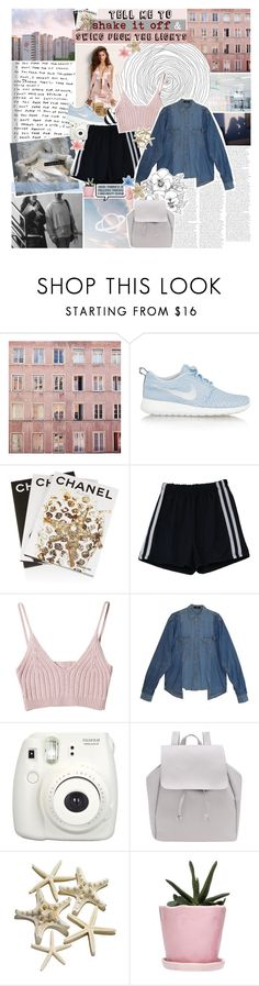 """loving you / rtd"" by www-purrtydino-org ❤ liked on Polyvore featuring NIKE, Assouline Publishing, StyleNanda, Fujifilm and Dot & Bo"
