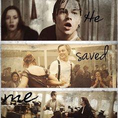 He saved me. Titanic Rose, Titanic Ship, Rms Titanic, Sad Movies, 2 Movie, Titanic Quotes, Leo And Kate, Jack Dawson, Young Leonardo Dicaprio