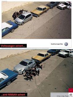 Volkswagen vs Nissan #creativeads