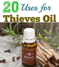 Young Living's Thieves® essential oil blend was inspired by the legend of four French thieves who formulated a special… Essential Oils For Colds, Thieves Essential Oil, Essential Oil Uses, Natural Essential Oils, Young Living Essential Oils, Essential Oil For Infection, Thieves Oil Uses, Thieves Oil Recipe, Pure Essential