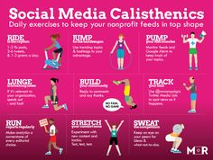 Social Media Calisthenics - Daily exercises to keep your nonprofit feeds in top shape