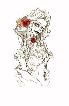 Lavinia Art Print by Abigail Larson Art Sketches, Art Drawings, Abigail Larson, Character Art, Character Design, Divas, Gothic Art, Horror Art, Art Sketchbook