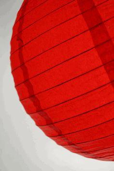 Paper Lanterns 12 in. Red