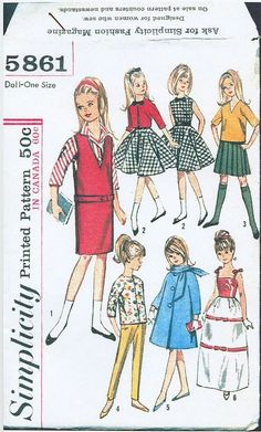 Free Copy of Pattern - Simplicity 5861