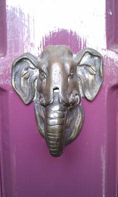 Elephant door knocker