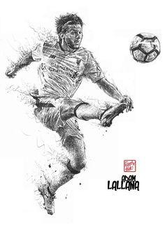 Adam Lallana: Liverpool FC :black pen drawing. #emrecan #liverpoolfc #football #thisisanfield #lfc #lovelfc #ynwa #picoftheday #matchday #art #drawing