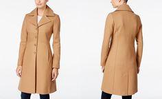Tommy Hilfiger Wool-Blend Walker Coat - Coats - Women - Macy's