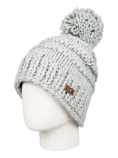 Bobble hat for women from roxy. Features include: pure acrylic full polar fleece lining chunky knit and one size. Hats For Short Hair, Snow Hat, Snowboarding Women, Bobble Hats, Ski Hats, Winter Hats For Women, Winter Accessories, Beanie Hats, Roxy