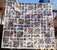"""Growing Up Odd Quilt....uses 2"""" squares from http://weddingdressblue.wordpress.com/2014/03/23/tutorial-growing-up-odd-quilt/"""