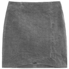 Tulip Mini Skirt (62 CAD) ❤ liked on Polyvore featuring skirts, mini skirts, short mini skirts, mid thigh skirt, high rise skirts, short skirts and high-waisted skirts