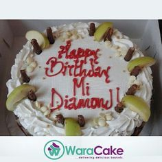 Lovely cake. Who is your diamond ? #cake