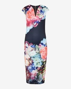 Focus Bouquet bodycon dress - Dark Blue | Dresses | Ted Baker