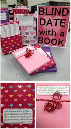 "This would be fun to do at different times throughout the year. Have some books wrapped and kids can ""take the risk"" if they want. Could be fun."