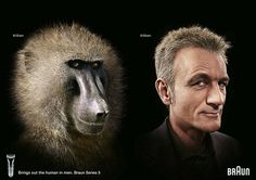 Shaved Primates Become Human In Braun Campaign by adrants, via Flickr