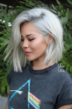 45 Edgy Bob Haircuts To Inspire Your Next Cut Edgy bob haircuts vary and there w. 45 Edgy Bob Haircuts To Inspire Your Next Cut Edgy bob haircuts vary and there will be something for you personally, Edgy Bob Hairstyles, Short Bob Haircuts, Pretty Hairstyles, Edgy Haircuts, Short Blunt Haircut, Bob Haircut 2018, Bob Haircut Fine Hair, Platinum Blonde Hairstyles, Fine Hair Bobs
