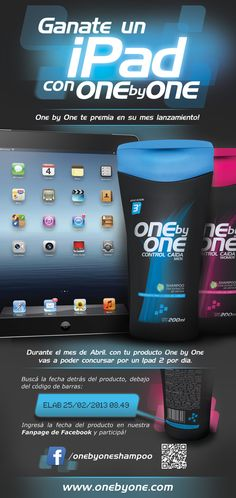 One by One Shampoo - Vinyl banners design by Nicolás Paparella, via Behance