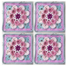 Cuppa Crochet: Moon Blossom (UK and US Terms) - A Free Pattern