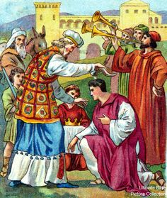1 Kings 1 Bible Pictures: Solomon crowned king of Israel