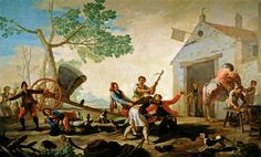 """goya francisco the quarrel in the new tavern prado  (from <a href=""""http://www.oldpainters.org/picture.php?/26482/category/10342""""></a>)"""