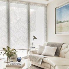 cool-living-room-roller-blinds-for-rooms-and-shutters-window-ideas-pics-sliding-door-vertical-bay-wi. French Curtains, White Curtains, Diy Curtains, White Roller Blinds, Made To Measure Blinds, Orange Interior, Curtain Texture, Blinds For Windows, Living Room Modern