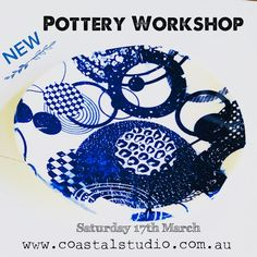 Half day workshop - Handbuilding Pottery 9am - 12:30pm with a home baked morning tea -xx-