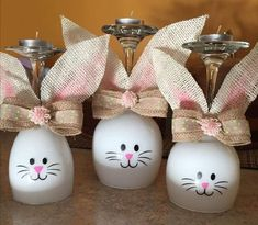 OsternOsternHow to Make an Easter Wine Glass Candle Holder glass crafts to make . - OsternOsternHow to Make an Easter Wine Glass Candle Holder glass crafts to make and sellHow to Make - Bunny Crafts, Easter Crafts For Kids, Easter Gift, Easter Bunny, Easter Party, Easter Eggs, Easter Food, Easter Dinner, Easter Treats