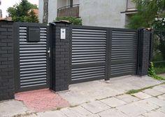 Ogrodzenia nowoczesne Gate Wall Design, Home Gate Design, House Fence Design, Front Wall Design, House Main Gates Design, Steel Gate Design, Iron Gate Design, Door Design Interior, Main Door Design