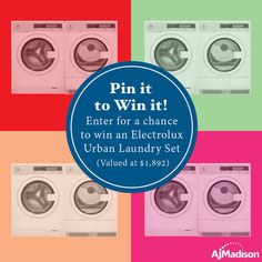 Don't you deserve the chance to spice up your laundry room! Enter for a chance to win Electrolux Urban laundry pair valued at $1,892!  #electrolux #laundryroom