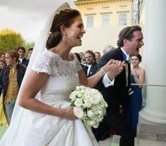 "The happy bridal couple arrive at Drottningholm Palace for the wedding banquet; wedding of Princess Madeleine of Sweden and mr. Christopher ""Chris"" O'Neill, June 8th 2013"