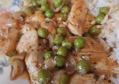 Zöldborsós csirkemell ragú