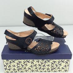 Think! Zilli 80327 Black EU 41 US 10 B Women's Wedge Platform Sandal