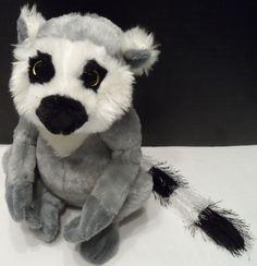 $10.98/ Plush Ringtailed Lemur Stuffed Animal No Code HM369 by Ganz Webkinz ~Youth kids children www.stores.ebay.com/Shellys-Sweet-Finds